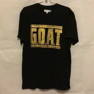 G.O.A.T by guess tee shirt black with gold letters